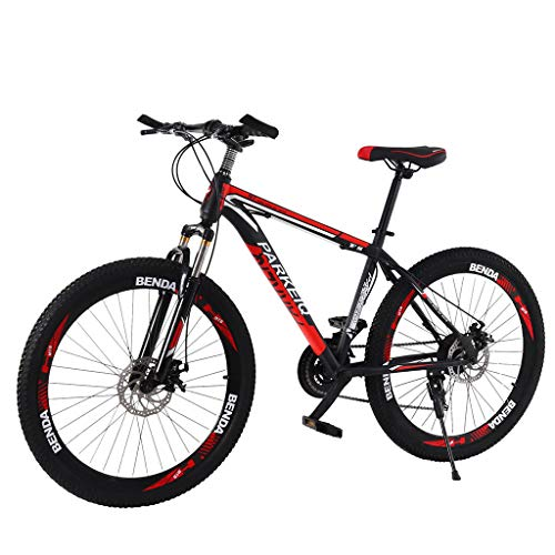 WAJLSWIK Outroad Mountain Bike, 26 Inch Mountain Bike with 21 Speed Dual Disc Brakes (Black)