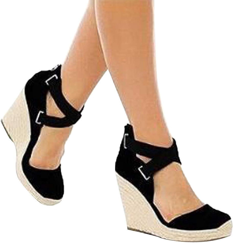 33b71cb92295c Women's Bummyo Sandals Retro Fashion Womens Espadrilles Wedges ...