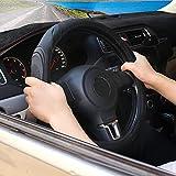 XCBYT Black Car Steering Wheel Cover - Auto Women Men...