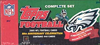 2005 Topps Football Factory Team Set with 5 Philadelphia Eagles EXCLUSIVE Rookie Cards and Aaron Rodgers Rookie Card
