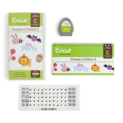Cricut 2001801 Everyday Cartridge, Create a Critter 2,White