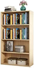 Haobase 4 Tiers Wood Bookshelf Shelves Display Storage Wooden Shelves Unit