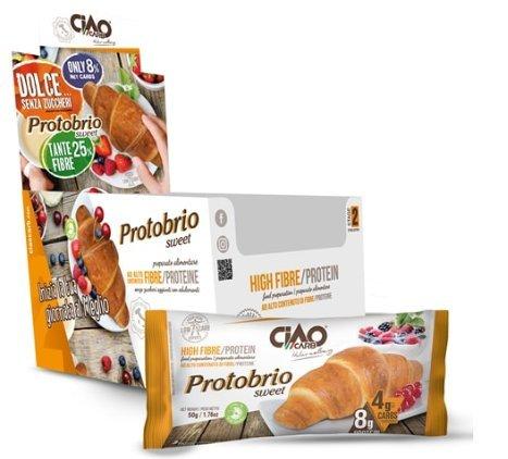 [Kit de desayuno] 12 x Ciaocarb Protobrio Sweet 50 g (BRIOCHE LOW CARB DELIZIOSA, VUOTA) + 24 x BOLERO STICK 3 g – NT INTEGRATORES