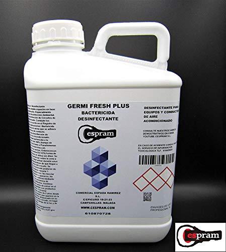 CESPRAM, Desinfectante aire acondicionado,sistemas ventilación y circuitos.bactericida,virucida de amplio espectro. Germi fresh plus.Envase de 1 litro.
