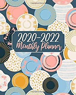 2020-2022 Monthly Planner: Cute Book, 3 Year 36 Months Calendar Agenda Schedule Organizer January 2020 to December 20222 With Holidays and inspirational Quotes