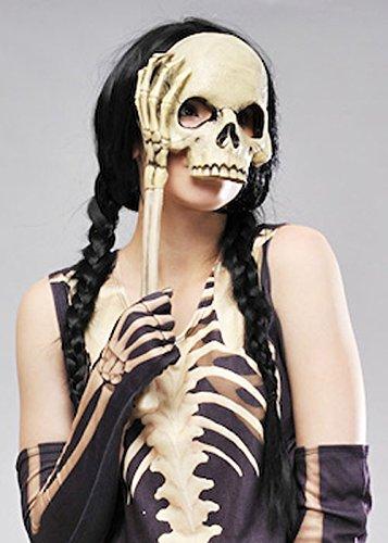 Crâne Gothique Lorgnette Bal masqué Eyemask