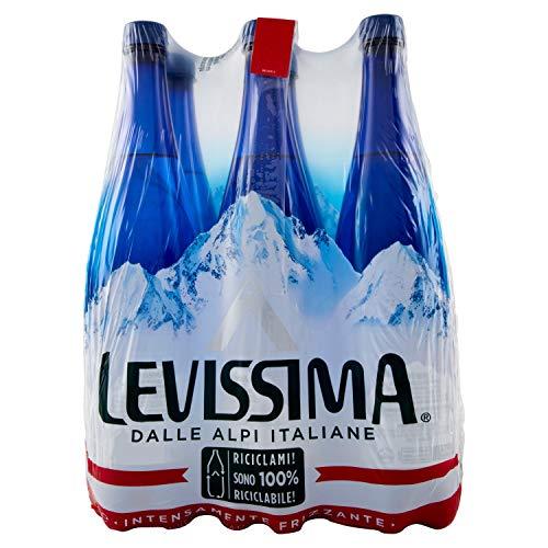 Levissima Acqua Minerale Frizzante, 6 x 1L