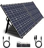 TWELSEAVAN 100W Portable Foldable Solar Panel Charger for Jackery Explorer 160/240/500 Power Station/Suaoki/Goal Zero Yeti/Rockpals/Kyng Power Solar Generator, with USB QC3.0 Port, USB Type C Port