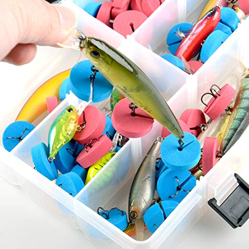 Fishing Hook Covers Hook Bonnets Treble Hook Guards - One Size Fits Most, Tangles Free, EVA Material Fishing Hook Caps Protect Your Sharp Hooks and Long Using (Pack of 60)