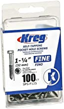 Kreg Pocket-Hole #6 Screws, 1-1/4