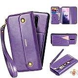 CORNMI OnePlus 7 Pro Wallet Case, Zipper Pocket 8 Card Holders...