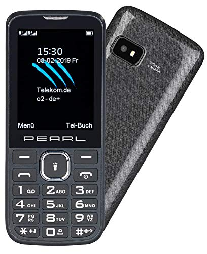 simvalley MOBILE Dual SIM Handys: Dual-SIM-Handy mit 6,1-cm-Display (2,4