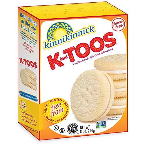 Kinnikinnick KinniTOOS Vanilla Sandwich Cream Cookies, 8oz/220g (Case of 6)