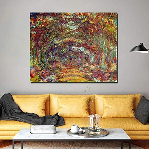 KWzEQ Famoso Pintor decoración Pintura Papel Pintado póster y Grabado Lienzo Arte de la Pared Lienzo Sala de Estar decoración del hogar,Pintura sin Marco,50x60cm