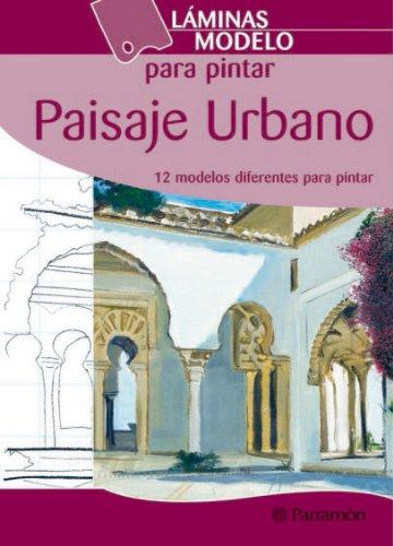 Láminas modelo para pintar paisaje urbano