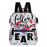 Rucksack, Windeltasche, mit inspirierendem Zitat, für Reisen, Teenager, Jungen, Mädchen, Geldbörse, modische Tasche, Büchertasche, Uni, Tagesrucksack, Vorschule, Homecoming, Schulbedarf