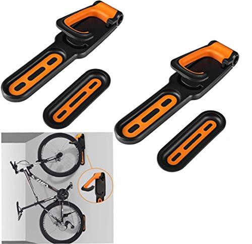 Fahrrad Halterungen, 1 Paar Fahrradhalterung Haken Fahrräder für bis zu 18kg Fahrrad Haken Fahrradkeller Wandhalterung Fahrrad für Haus und Garag