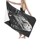 Hdadwy Asciugamano da Bagno Abbastanza temerario Asciugamano da Spiaggia personalità Palestra Sport Acquatici Tappetino da Spiaggia Portatile 31,5x51,2