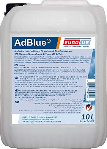 EUROLUB AdBlue Hochreine SCR Harnstofflösung ISO 22241, 10 Liter
