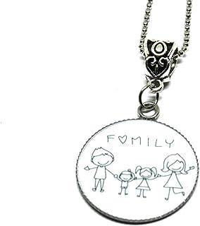 Collana con ciondolo in acciaio family - famiglia - Collana Famiglia