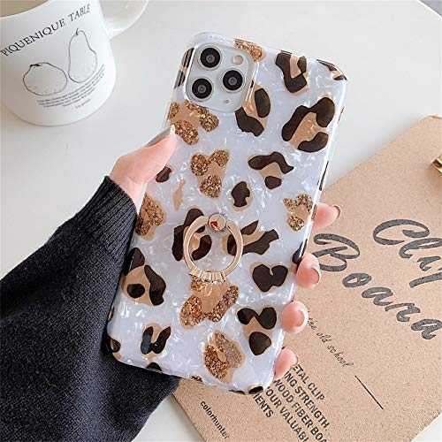 Bakicey iPhone 12 Pro Max Hulle iPhone 12 Pro Max Marmor Handyhulle mit 360 Grad Ring Stander Ultra Dunn Soft Silikon TPU Bumper Stosfest Case Anti kratzt Schutzhulle fur iPhone 12 Pro Max 13