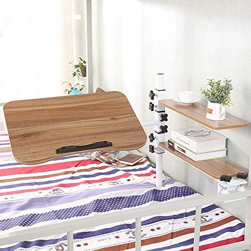 FSYGZJ Verstellbarer Laptop Nachttisch Tablett Tisch tragbarer Stehpult mit faltbaren Beinen Faltbarer Sofa Fruhstuckstisch Lesestander fur Notebook Stander fur Couchboden Abrown
