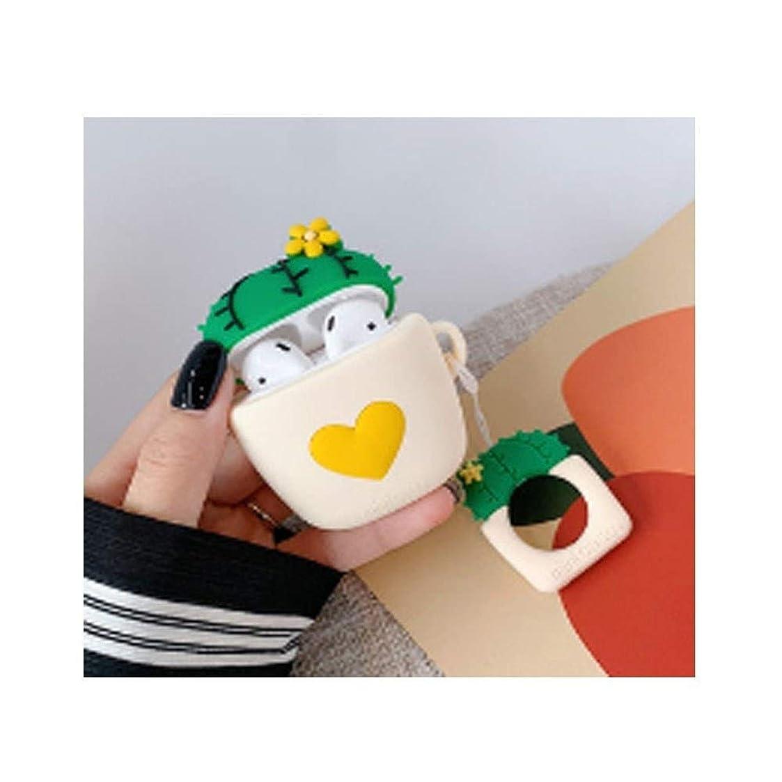 学習記念品振り子Kaiyitong001 Airpod用ヘッドフォンカバーシリコン防滴ワイヤレスヘッドセット収納ボックス、ピンク、イエロー、パープル、ベージュ ファッション (Color : Yellow)