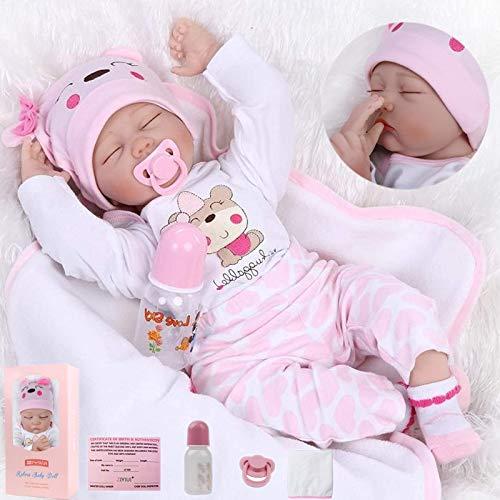 ZIYIUI muñecas Reborn 22 Pulgadas 55 CM Vinilo Realista simulación de Silicona Suave bebé Reborn muñecas Mujeres bebés Reborn Baby Doll Juguetes de Regalo de cumpleaños