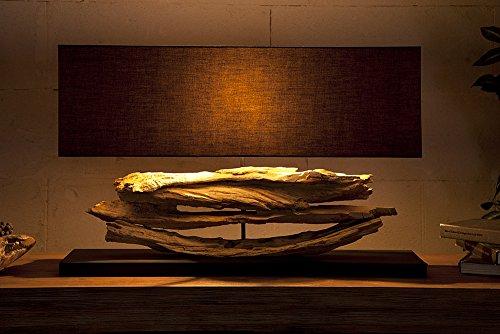 Design Lampe Riverine Schwarz Treibholz Leuchte Handarbeit