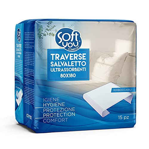 Virsus 90pz traverse assorbenti salva materasso, traverse letto impermeabili, monouso, rimboccabili 80x180, coprimaterasso per incontinenza, protezione per materassi, lenzuola, divani, poltrone