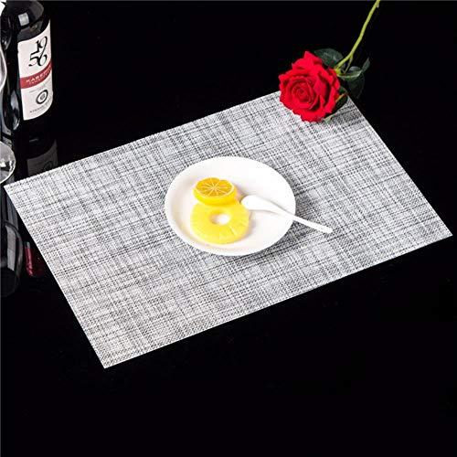 Antideslizante Mesa de planchas de Aislamiento con esteras de Tela Antideslizante Cocina,Light Grey,4pcs