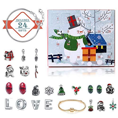 Countdown-Kalender-Schmuckset, Weihnachts-Countdown-Kalender-Schmuckset Adventskalender DIY-Schmuckset B