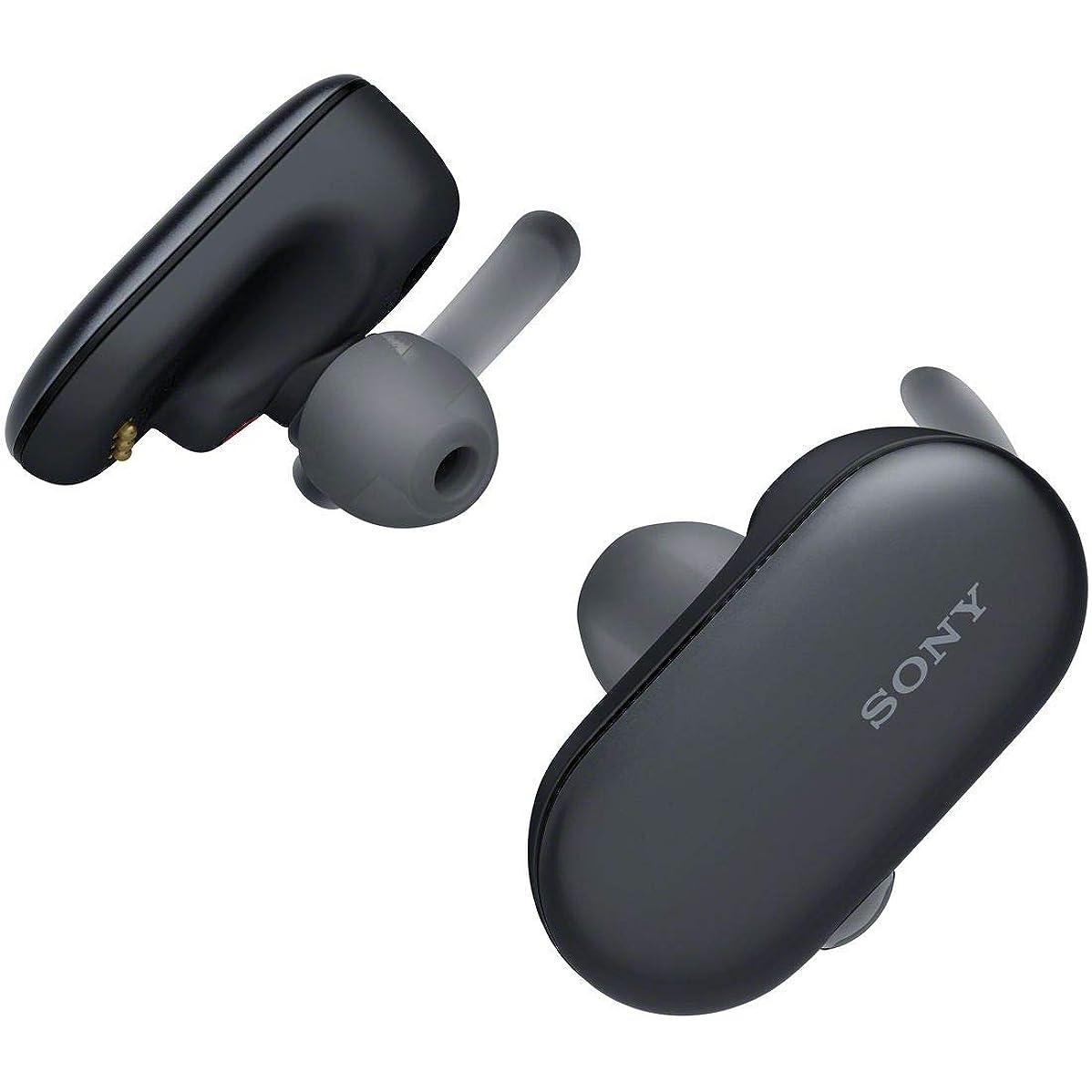 鳴らす初期速いソニー SONY 完全ワイヤレスイヤホン WF-SP900 : Bluetooth対応 左右分離型 防滴 防塵 4GBメモリ内蔵 2018年モデル ブラック WF-SP900 BM