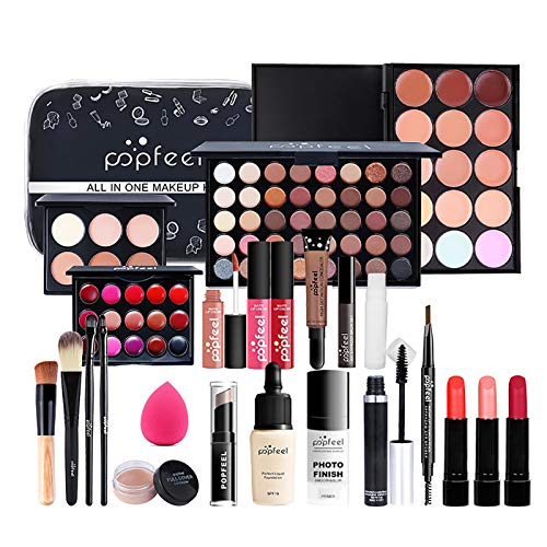 beeyuk Kit de maquillaje Beauty Book Maquillaje Impermeable Para Niñas para niña y mujer Incluye polvo compacto lápiz labial maquillaje facial bálsamo labial bolsa de maquillaje crema para serviceable