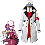 Disfraz de anime Darling in The FRANXX 02 a medida para rompevientos de disfraces de colegio diario con accesorios, color blanco, S