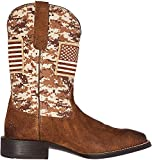 Ariat Men's Sport Patriot Western Cowboy Boot, Antique Mocha Suede, 10 D US
