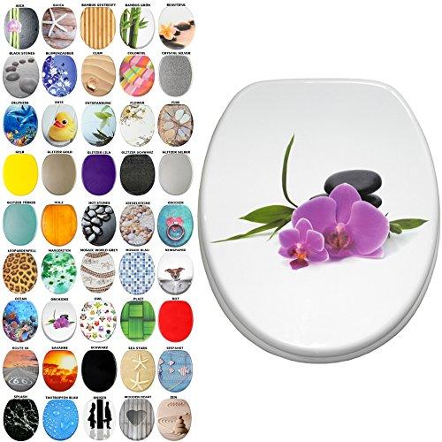 WC Sitz, viele schöne WC Sitze zur Auswahl, hochwertige und stabile Qualität aus Holz (Orchidee)