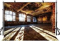 HD 7x5ftの放棄された部屋の背景フィルムとテレビの写真のための赤レンガの壁の日光装飾小道具の背景子供と大人の肖像画の背景LYZY0469