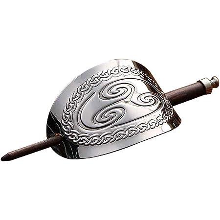 Lurrose Fermaglio per capelli in metallo vintage Viking con fermagli per capelli