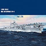 Modèle assemblé Navire de Guerre, 1 350 Echelle USS Enterprise CV-6 Porte-Avions, Navire de Guerre assemblé modèle for Adulte Enterprise WKY