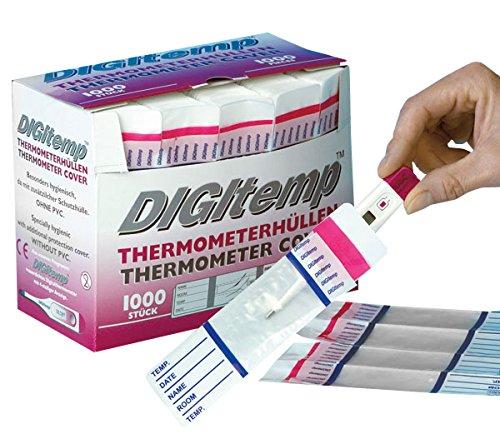 Digitemp H7 11033 Thermometerhülle für gebräuchlichen Digital-Fieberthermometer, ohne Gleitmittel (1000-er Pack)