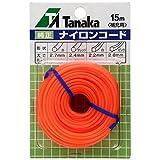 日工タナカ スペアナイロンコード15m SC15 オレンジ