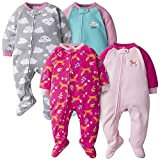 Gerber Baby Girls' 4-Pack Blanket Sleeper, Fox Cloud, 0-3 Months