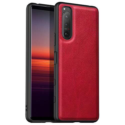 Avalrist geeignet für Sony Xperia 5 II Hülle, weiche TPU Ledertasche, angenehm zu halten, Kratz- & fingerabdruckfest, kompatibel mit Samsung Galaxy Sony Xperia 5 II (Rot)