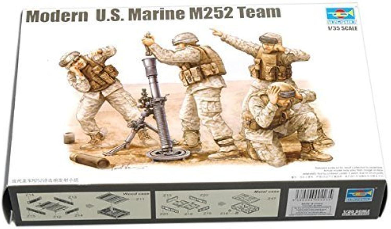 Trumpeter Modern US Marine M252 Team Figure Set, Scale 1 35, 4Pack by Trumpeter