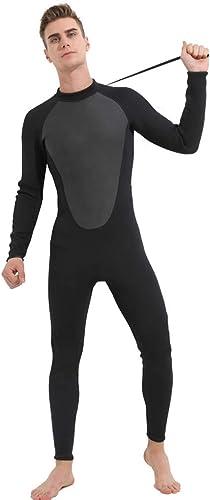 ALIKEEY 2019 Homme Wetsuit 3Mm Combinaison ComplèTe Super Extensible De PlongéE Swim Surf Snorkeling Sunblock NéOprèNe Natation Fitness EntièReHommest Longueur Costume One Piece Manches Longues pour