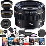 Canon 2515A003 EF 50mm f/1.4 USM Standard & Medium Telephoto Prime Lens SLR Cameras Bundle with Photo and...
