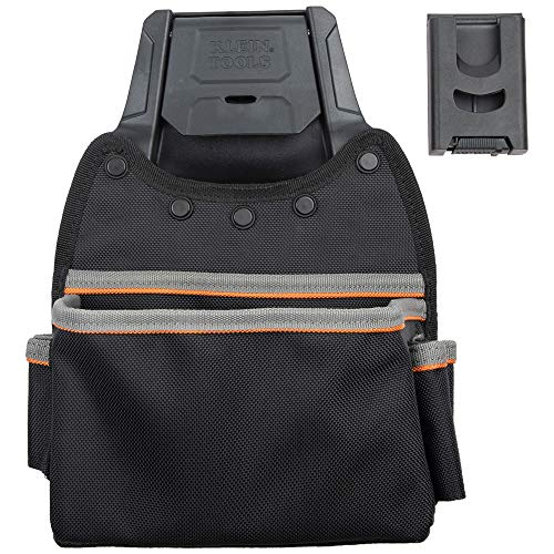 Klein Tools 55913 Tool Pouch, Tradesman Pro Modular Parts Pouch with Belt Clip works with Klein Click Lock Modular Wall Rack and Tool Belts