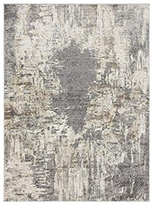 Luxe Weavers Euston Gray 6 x 9 Abstract Modern Area Rug