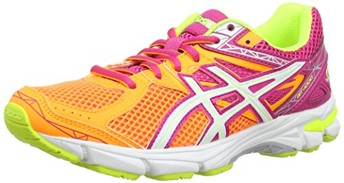 ASICS GT 1000 3 GS - Zapatillas de running para niños, unisex, color naranja / blanco / rosa (soft orange/white/pink-0901), talla 37.5